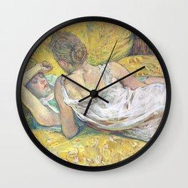 """Henri de Toulouse-Lautrec """"L'abandon (Les deux amies)"""" Wall Clock"""