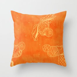 Goldfish with Pattern Throw Pillow