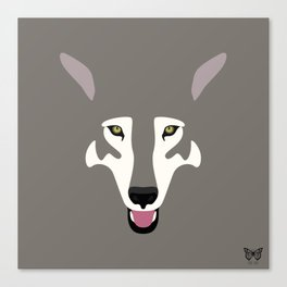 Gray Wolf (Tongues Out Project) Canvas Print