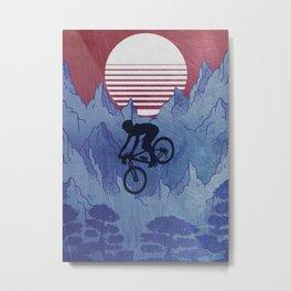 MTB Mountainbiker Metal Print