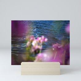 Purple Flower Peekaboo at the Lake Mini Art Print