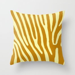 Chocolat Zebra Throw Pillow