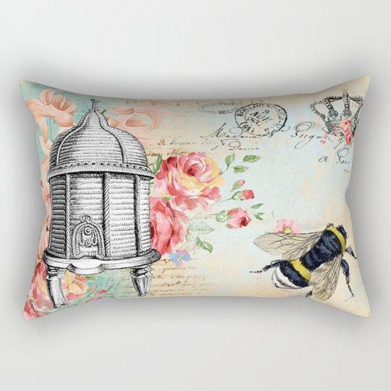 Vintage Flowers #19 Rectangular Pillow