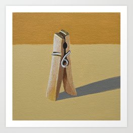 Clothes Pin Art Print