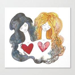 Ligeia and Rowena Canvas Print