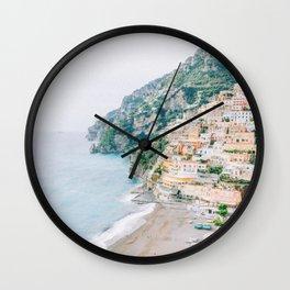 Coast Along Positano, Amalfi Coast, Italy Wall Clock