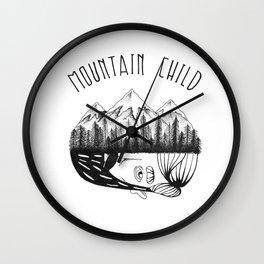 Mountain Child  Wall Clock