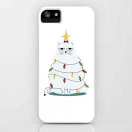 Grumpy Christmas Cat iPhone Case