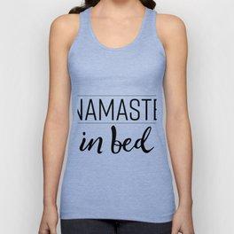 Namaste in Bed Unisex Tank Top
