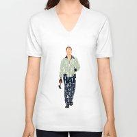 ryan gosling V-neck T-shirts featuring Ryan Gosling by A Deniz Akerman