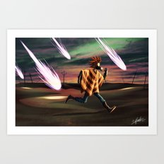 Air Raid in the Battlefield Art Print