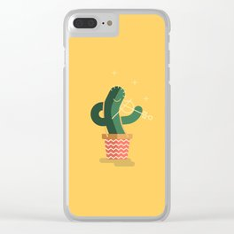 CACTUS BAND / The Violin Clear iPhone Case