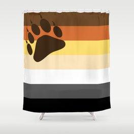 Bear Flag Paw Edition Shower Curtain