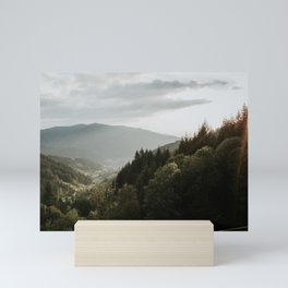 View from the German Mountains   Colourful Travel Photography   Waldkirch, Schwarzwald, Germany (Europe) Mini Art Print