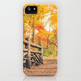 Autumn Path Central Park New York City iPhone Case