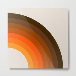 Retro Golden Rainbow - Right Side Metal Print