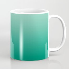 Ombre Teal Green Gradient Pattern Coffee Mug