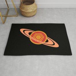 Saturn's Hexagon Rug