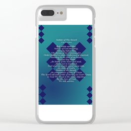 Solider of The Sword Clear iPhone Case