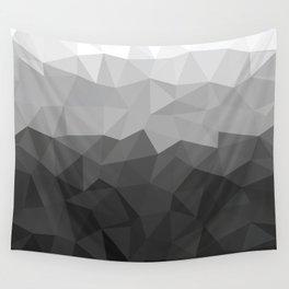 Low polygon monochromatic minimalism Wall Tapestry
