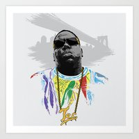 notorious big Art Prints featuring Notorious by Tecnificent