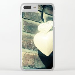 Two hearts Clear iPhone Case