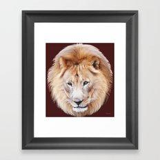 Lion Sphere Framed Art Print