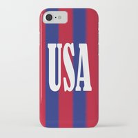 usa iPhone & iPod Cases featuring USA by Caio Trindade