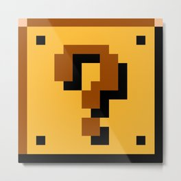 8-Bits & Pieces - ? Block Metal Print