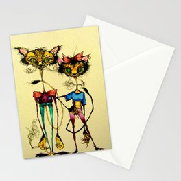 Kit and Kitty Stationery Cards