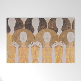 Gustav Klimt - Choir of Angels (Chor Der Paradiesengel) Welcome Mat