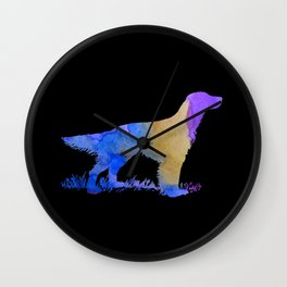 English Setter Wall Clock