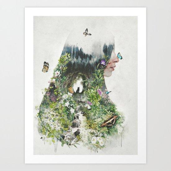Cat in the Garden of Your Mind Art Print