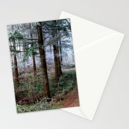 the red forest crossing Stationery Cards