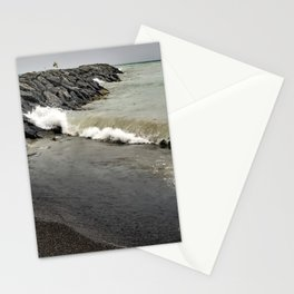 Huron Wave on Breakwall Stationery Cards