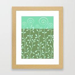 VINEIRI | moss aqua Framed Art Print