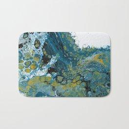 Teal Waves Bath Mat