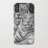 tigers iPhone & iPod Cases featuring Two Tigers by Thubakabra