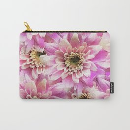 Pink Dahlia Flower Pattern Carry-All Pouch