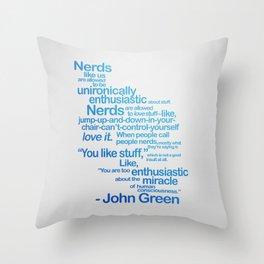 NERDS LIKE US Throw Pillow
