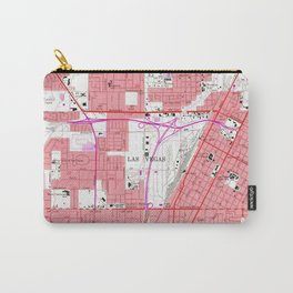 Vintage Map of Las Vegas Nevada (1967) 2 Carry-All Pouch