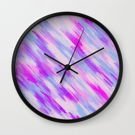 purple and pink painting texture Wall Clock