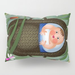 Baby Moses on the River Nile Pillow Sham