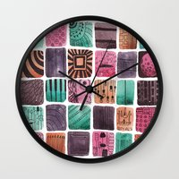 sailormoon Wall Clocks featuring Noodle  by Verismaya
