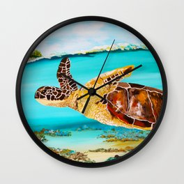 Swimming Free Wall Clock
