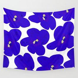 Blue Retro Flowers #decor #society6 #buyart Wall Tapestry