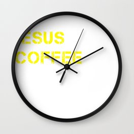 Jesus, Coffee & Chocolate Wall Clock