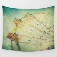 ferris wheel Wall Tapestries featuring Ferris Wheel by Honey Malek