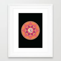 ohm Framed Art Prints featuring Ohm by TypicalArtGuy