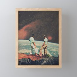 Space Man Framed Mini Art Print